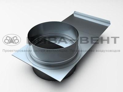 Шибер вентиляционный круглого сечения